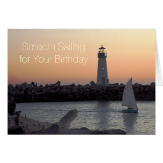 Smooth Sailing Scenic Birthday Card
