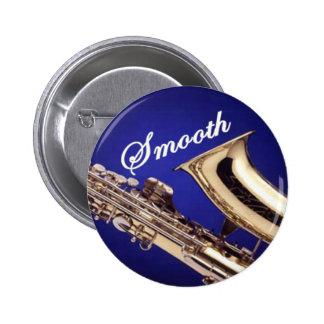 Smooth Saxophone 2 Inch Round Button