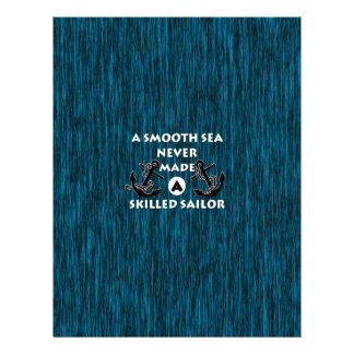 Smooth Sea Never Made Skilled Sailor Letterhead Template