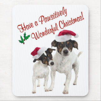 Smooth Toy Fox Terrier Christmas Wishes Mouse Pad