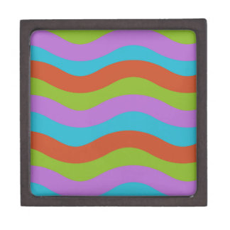 Smooth Waves Stripes Premium Keepsake Box