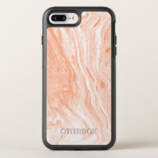Smooth White And Light Orange Marble Stone Texture OtterBox Symmetry iPhone 8 Plus/7 Plus Case