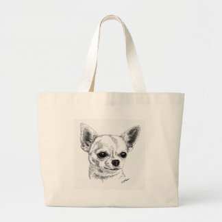 Smoothcoat chihuahua - 1 large tote bag