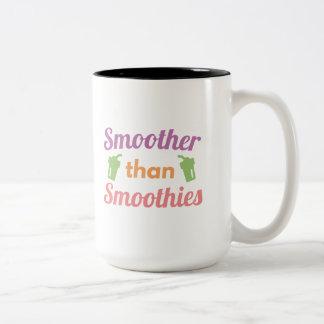 Smoother Than Smoothies Two-Tone Coffee Mug