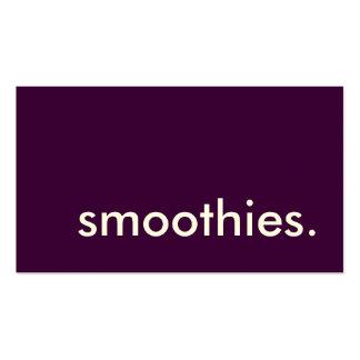smoothies. carte perforée de fidélité carte de visite standard