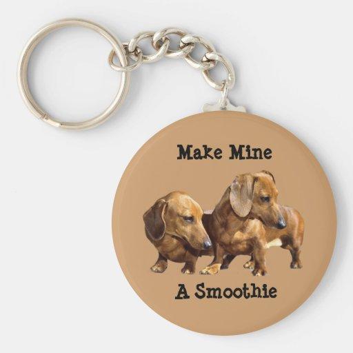 Smoothies Keychain de teckel Porte-clés