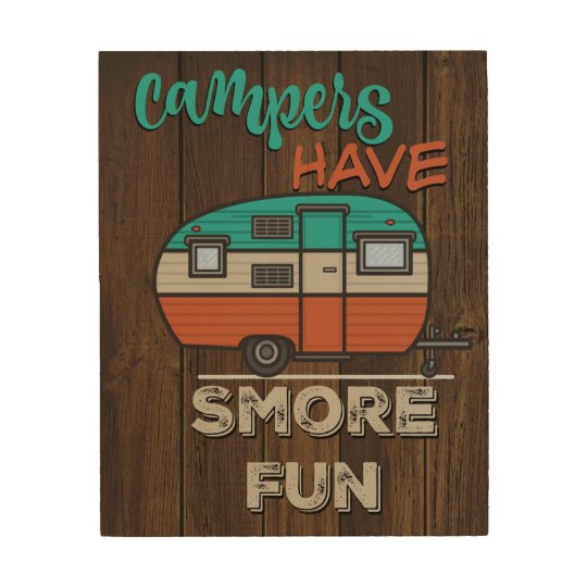 Smore fun wood canvases