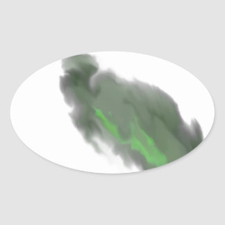 Smudge Oval Sticker
