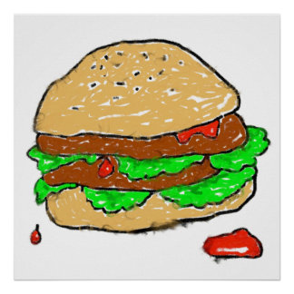 Smudgy Burger Poster