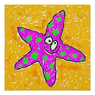 Smudgy Starfish Poster