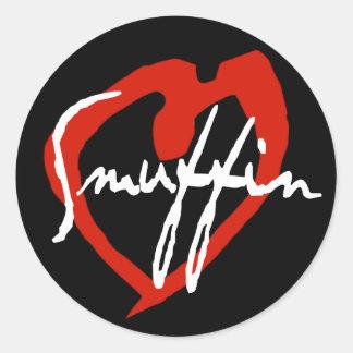 Smuffin Red Heart Sticker Black