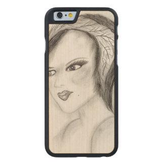 SMUG 30s Girl Carved® Maple iPhone 6 Slim Case
