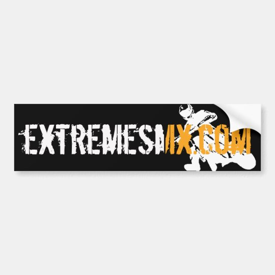 SMX Orange Bumper Sticker