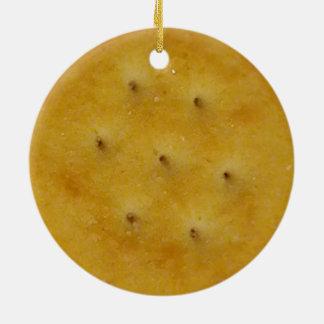 Snack Cracker Ceramic Ornament