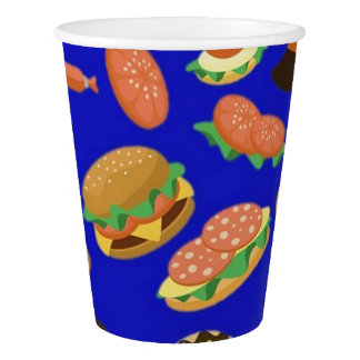 Snack Time Blue Picnic Paper Cups