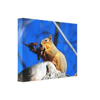 Snack time canvas print