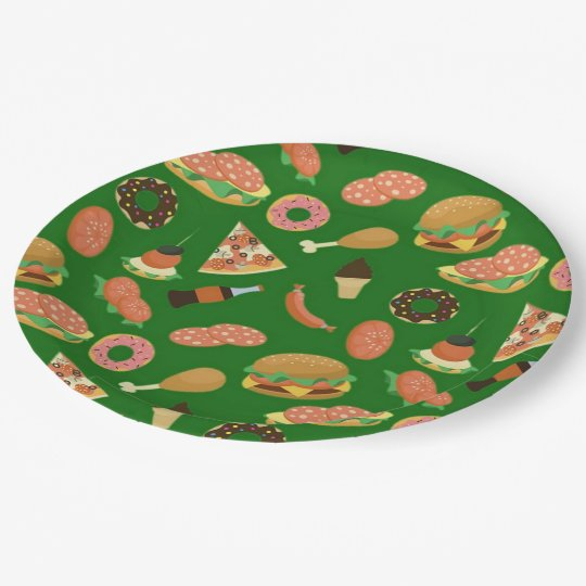 Snack Time Green Picnic Paper Plates