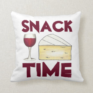 Snack Time Red Merlot Wine and Brie Cheese Pillow