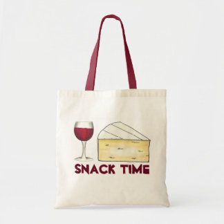 Snack Time Red Merlot Wine + Brie Cheese Tote