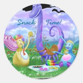 Snack Time! Round Sticker