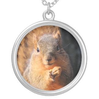 Snack time silver plated necklace