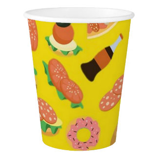 Snack Time Yellow Picnic Paper Cups