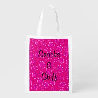 Snacks & Stuff Grocery Tote Grocery Bag