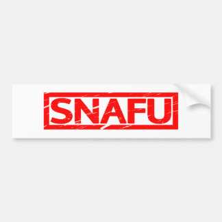 Snafu Stamp Bumper Sticker