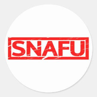 Snafu Stamp Classic Round Sticker