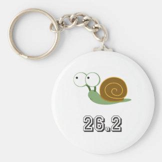 Snail 26.2 (marathon) basic round button keychain