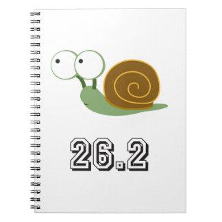 Snail 26.2 (marathon) spiral notebook
