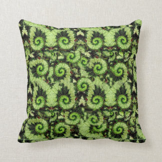 Snail Begonia Leaf Pillow by Sharles