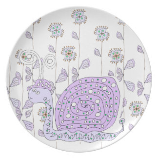 Snail by Cynthia Turner Designs Plate