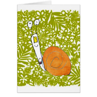 snail card by child