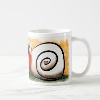 Snail cat coffee mug