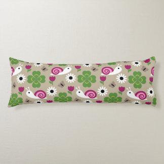 Snail & Clover Seamless Pattern Body Pillow