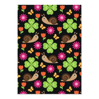 Snail & Clover Seamless Pattern Card