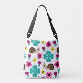 Snail & Clover Seamless Pattern Crossbody Bag