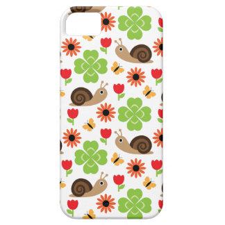 Snail & Clover Seamless Pattern iPhone 5 Case