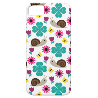 Snail & Clover Seamless Pattern iPhone 5 Cases