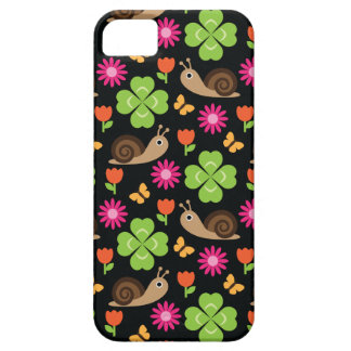 Snail & Clover Seamless Pattern iPhone 5 Cover