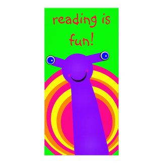 Snail Designed Book Mark Photo Card