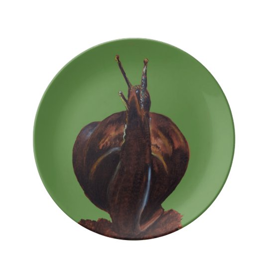 Snail Drawing 21.6 cm Decorative Porcelain Plate