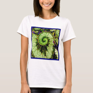Snail Escargot Begonia Leaf by Sharles T-Shirt
