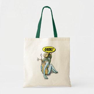 Snail Geek Fairy Girl Tote Bag