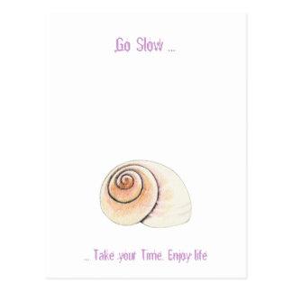 Snail Go Slow Postcard