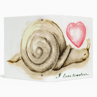 snail, I love tomatoes... Vinyl Binder