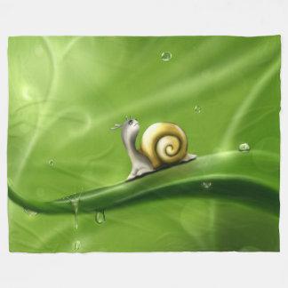Snail In The Rain Fleece Blanket