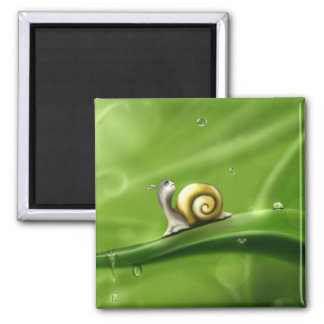 Snail In The Rain Magnet