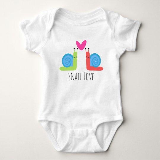 snail love baby shirt